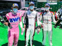Podium, Dylan Pereira (L), BWT Lechner Racing, Jaxon Evans (NZ), BWT Lechner Racing, Leon Köhler (D), Lechner Racing Middle East, Porsche Mobil 1 Supercup, Spielberg 2020